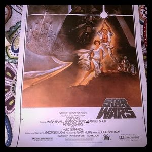 STAR WARS 15th ANNIVERSARY 1993 POSTER 1977 FILM